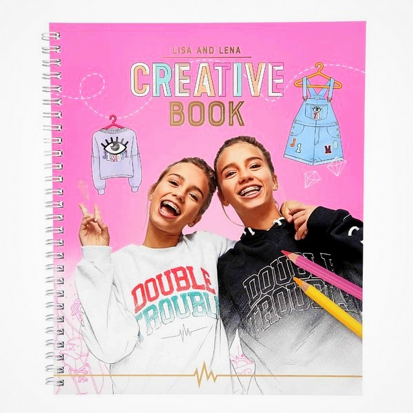 J1MO71 Lisa Lena creatief boek creatieboek knutselboek mode kleding ontwerpen