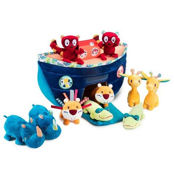 Lilliputiens Ark van Noach speelset zacht babyspeelgoed met diertjes