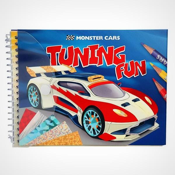 Monster Cars tuning fun knutselboekje tekenboek kleurboek raceauto