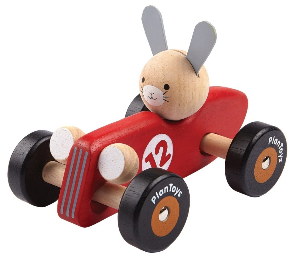 PlanToys Rabbit Racer houten auto