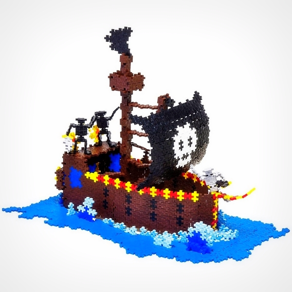 Plus-Plus bouwspeelgoed impressie Piratenschip