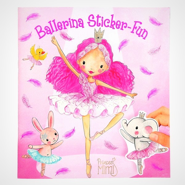 Princess Mimi Ballerina stickerboek knutselboekje sticker-fun