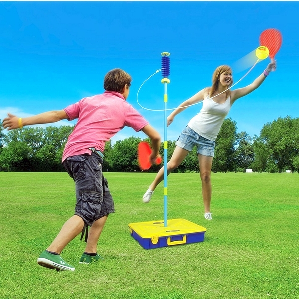 Swingball buitenspeelgoed vakantie sportief spelen tennis spel