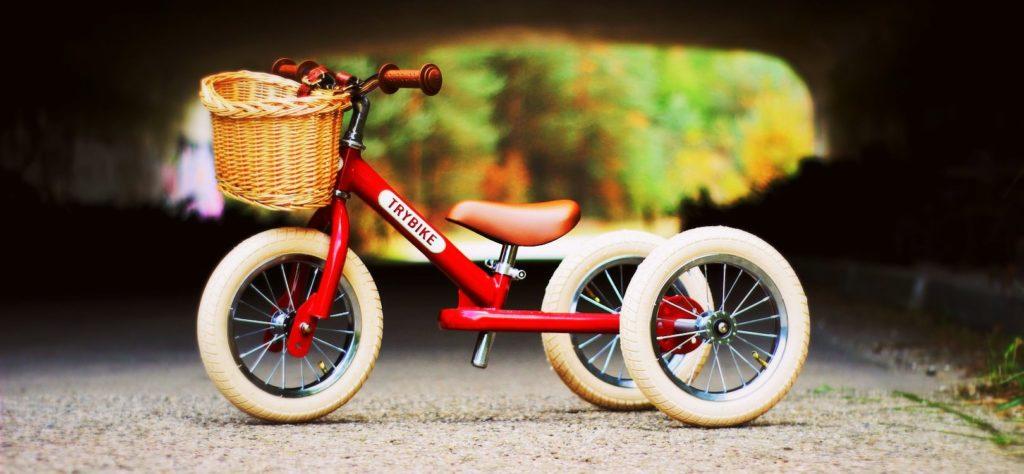 Trybike Vintage Rood Driewieler met mandje