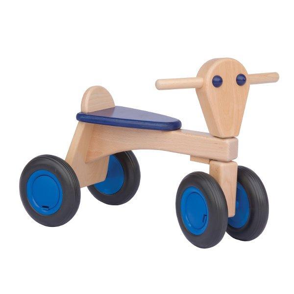 Van Dijk Toys Loopwagen blauw beuk