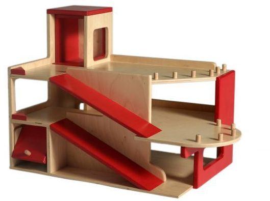 Van Dijk Toys houten garage met lift