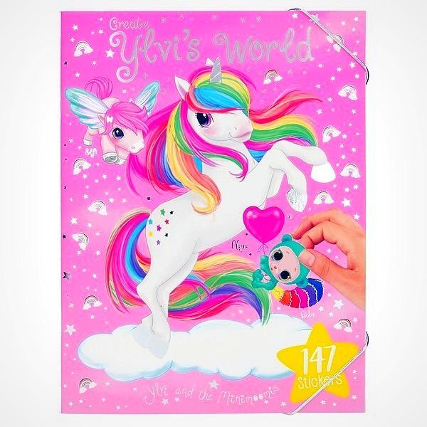 Ylvi minimoomis Naya stickerwereld stickerboek regenboog eenhoorn